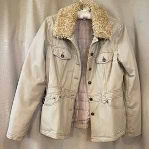 Mudd Casual jacket, removable faux collar, sz L